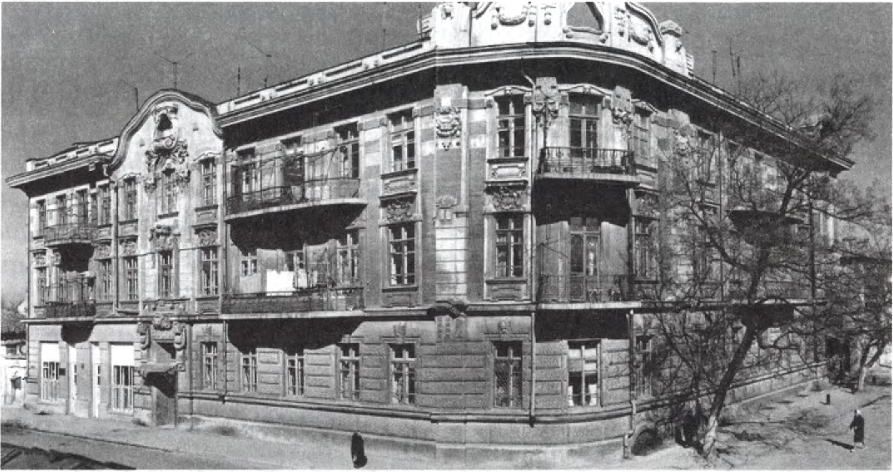 Доходный дом С.Э. Дувана. Архитектор П.Л. Сеферов. 1907—1908 гг. Снимок 1975 г.