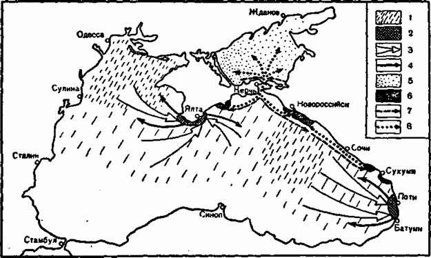 Схема миграции хамсы в Черном