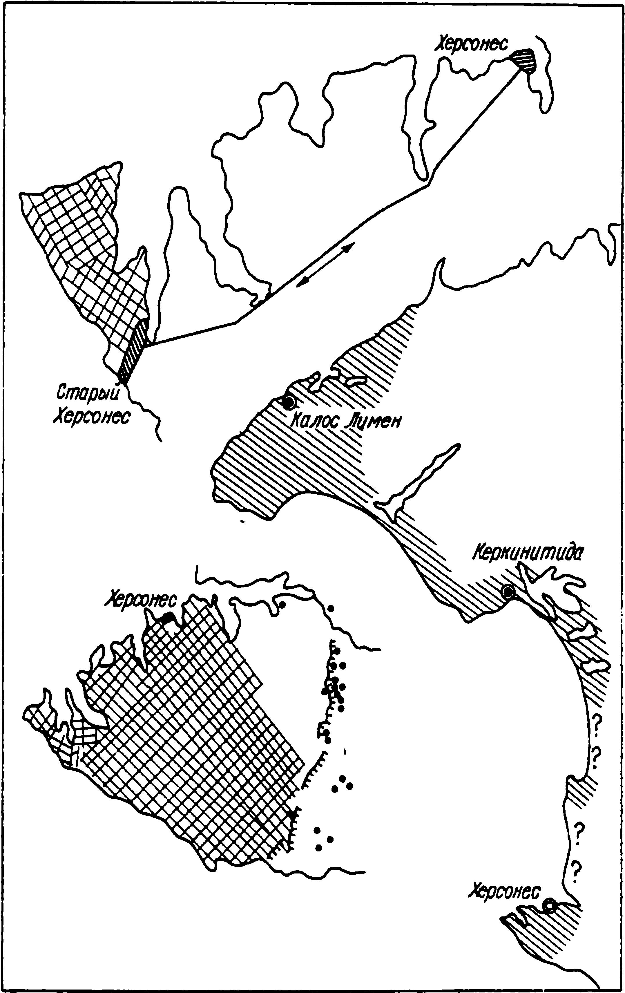Рис. 4. Динамика роста территории Херсонесского государства в классическую и эллинистическую эпохи