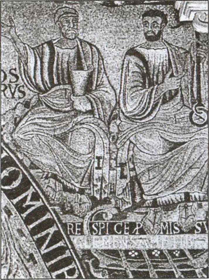 Св. апостол Петр (слева) и Св. Климент. Базилика Св. Климента. Рим
